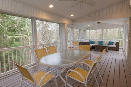 Centerville Cape Cod vacation rental - Expansive Screened Porch with furniture off of kitchen