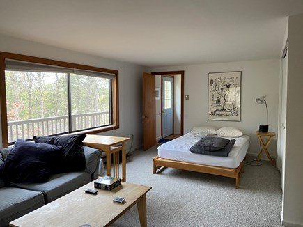 Wellfleet Cape Cod vacation rental - Bedroom, 1st floor, double bed, couch and TV.  Basement access, f