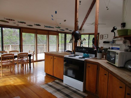 Wellfleet Cape Cod vacation rental - Upstairs kitchen and living area