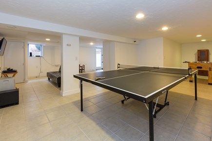 Hyannis Cape Cod vacation rental - Lower level game room, tv room, laundry, & full bath w/shower