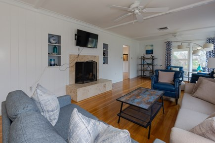 Hyannis Cape Cod vacation rental - Gleaming hardwood floors and large HD TV in living room