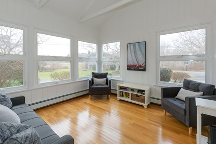 Hyannis Cape Cod vacation rental - WONDERFUL SUNROOM facing marsh/creek with glorious Sunsets