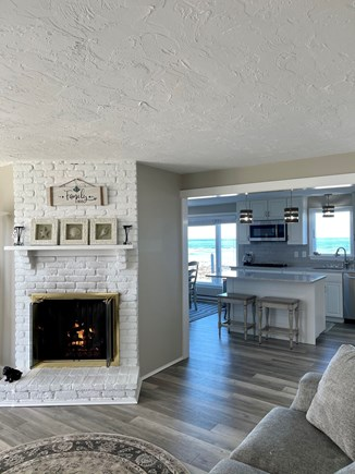 Sandwich Cape Cod vacation rental - Main sitting area with fireplace