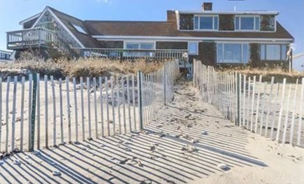 Sandwich Cape Cod vacation rental - Back of house from beach