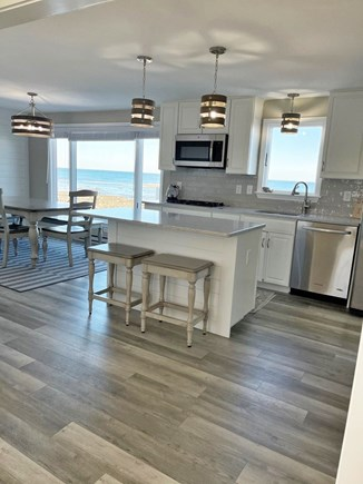 Sandwich Cape Cod vacation rental - Main kitchen with views of Town Neck Beach