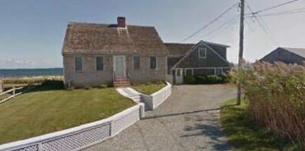 Sandwich Cape Cod vacation rental - Front of house from driveway with space for 5+ cars.