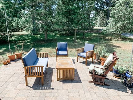 South Dennis Cape Cod vacation rental - Front patio just off of the kitchen.
