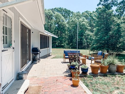 South Dennis Cape Cod vacation rental - Front entry of the house with patio off of the kitchen