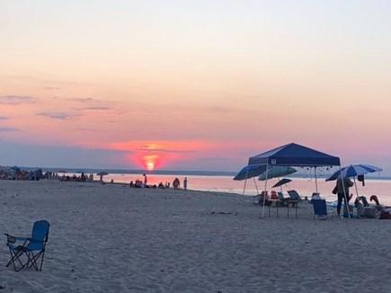 East Sandwich Beach Cape Cod vacation rental - Sunset on the beach/Cape Cod Bay