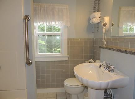West Dennis Cape Cod vacation rental - First Floor bathroom with hairdryer
