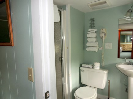 West Dennis Cape Cod vacation rental - Second Floor bathroom with shower and hairdryer
