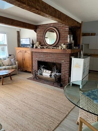 Chatham Cape Cod vacation rental - Living room w/nonworking fireplace