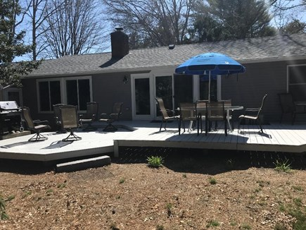 Centerville Cape Cod vacation rental - Deck with Table/ Umbrella for 6.  Weber Grill & 6 More Chairs
