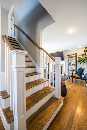 Provincetown, Cod Hollow Cape Cod vacation rental - Staircase to the upper level of the home