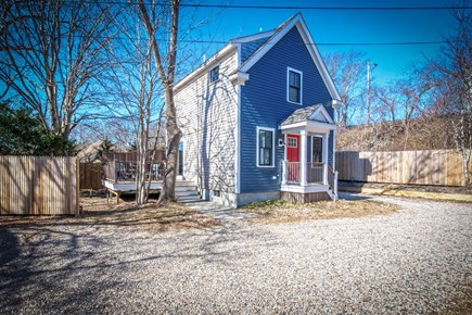 Provincetown, Cod Hollow Cape Cod vacation rental - 16 Holway St Unit #3  Parking to the right of the home.