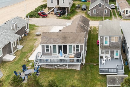 Popponesset Cape Cod vacation rental - 36 Wilsons Grove-One house back from beach; Patio & firepit