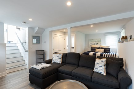 Popponesset Cape Cod vacation rental - Lover level tv room with queen bed for guests