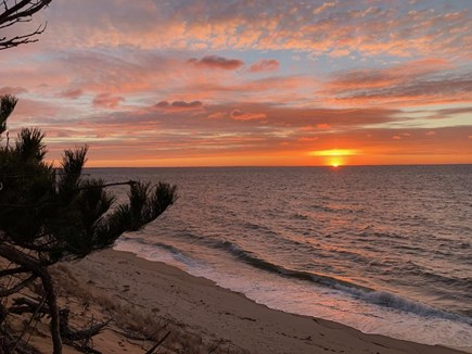 Eastham Cape Cod vacation rental - Sunset from Bay Side Beach
