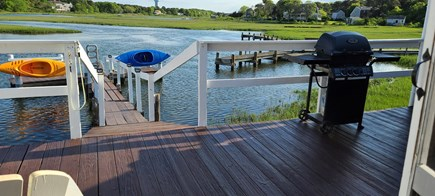Dennis Port Cape Cod vacation rental - Back deck overlooking the Swan River