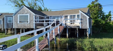 Dennis Port Cape Cod vacation rental - View of the house from the dock