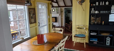 Dennis Port Cape Cod vacation rental - Dining area looking into living room