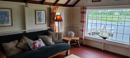 Dennis Port Cape Cod vacation rental - Living Room with futon and water views
