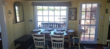 Dennis Port Cape Cod vacation rental - Dining table with view