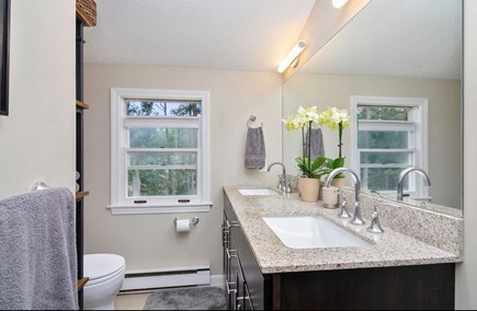 Eastham Cape Cod vacation rental - Master bathroom with walk in shower and double vanity