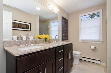 Eastham Cape Cod vacation rental - 1st floor bathroom with walk in shower and double vanity