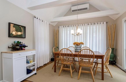 Eastham Cape Cod vacation rental - Comfortable eating area with slider to back deck