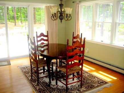 Wellfleet Cape Cod vacation rental - Dining area (seats 8 with table extended)