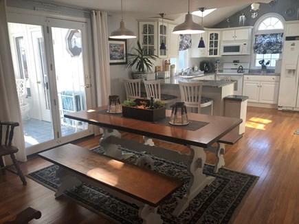 Falmouth, Maravista Cape Cod vacation rental - Open concept farm house dining room open to three season porch