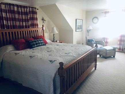 Falmouth, Maravista Cape Cod vacation rental - HUGE master bedroom with seatingfan, air conditioning
