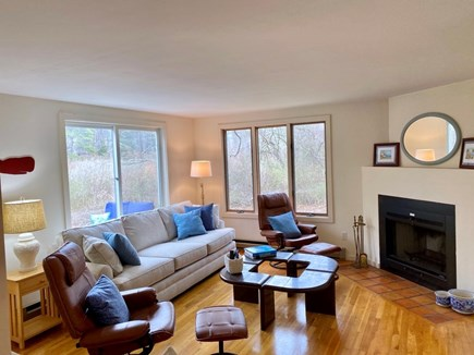 East Orleans Cape Cod vacation rental - Living room with TV (not shown)