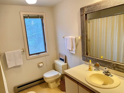 East Orleans Cape Cod vacation rental - Bathroom with tub and shower- Upstairs