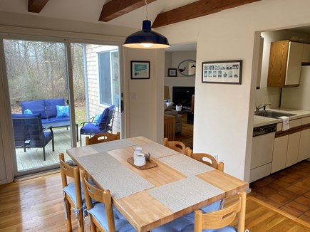 East Orleans Cape Cod vacation rental - Dining Room w sliders to deck