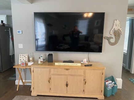 """Dennis Cape Cod vacation rental - 75"""" Smart TV and WiFi access."""