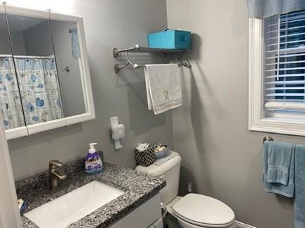 Dennis Cape Cod vacation rental - 1st floor bathroom with shower.