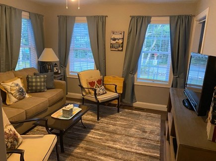 Dennis Cape Cod vacation rental - 1st floor den with queen-sized sofa bed.'