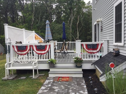 Dennis Cape Cod vacation rental - Deck with seating for 6-8.