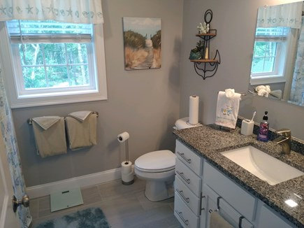 Dennis Cape Cod vacation rental - Full size bathroom with tub on 2nd floor.