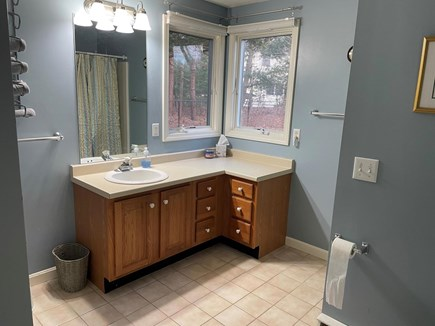 Falmouth Cape Cod vacation rental - First floor full bath with shower stall and laundry