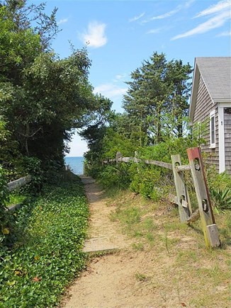 Eastham Cape Cod vacation rental - Walk-way to the private bay beach just steps away