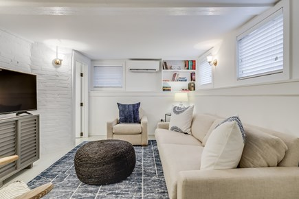 Provincetown Cape Cod vacation rental - Lower level living room area