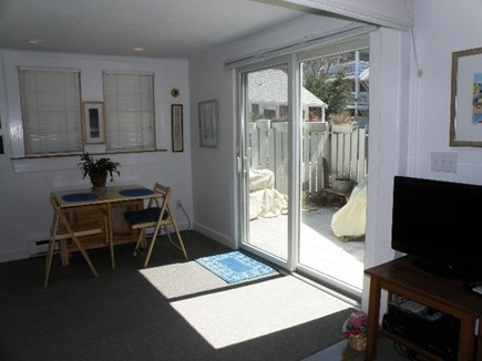 Provincetown Cape Cod vacation rental - Slider to deck/patio area