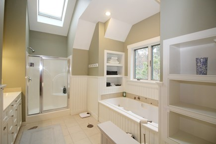 Wellfleet Cape Cod vacation rental - Second floor ensuite bathroom with separate shower and jetted tub
