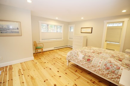 Wellfleet Cape Cod vacation rental - First floor bedroom with queen bed and ensuite bathroom
