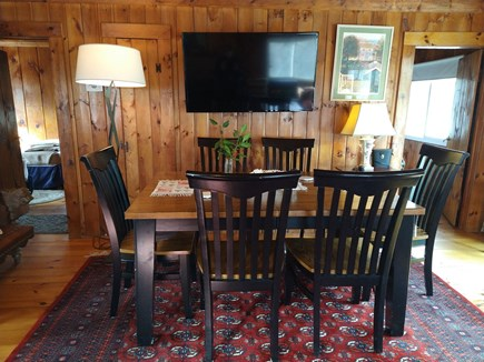 Wellfleet Cape Cod vacation rental - Enjoy dining by the screen door with sounds of surf in background