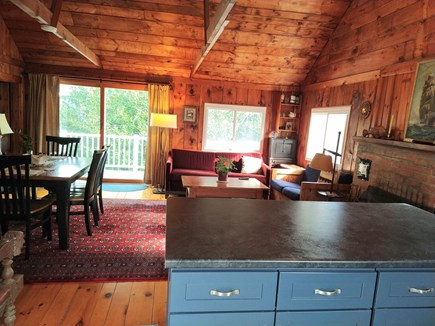 Wellfleet Cape Cod vacation rental - Walk in, put your things down, and head out slider to sunny deck