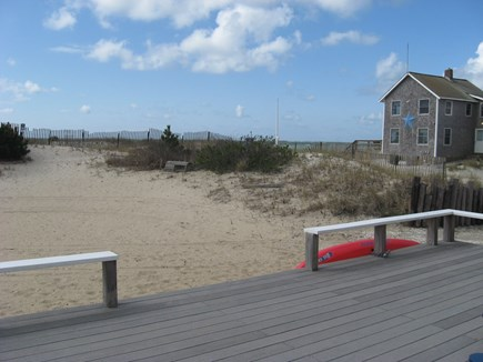 West Dennis Cape Cod vacation rental - View from the back deck to the ocean